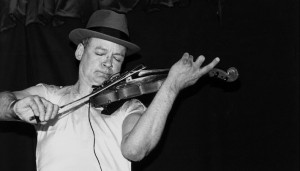 Tony Conrad performing at the Knitting Factory in NYC on April 28, 1994.